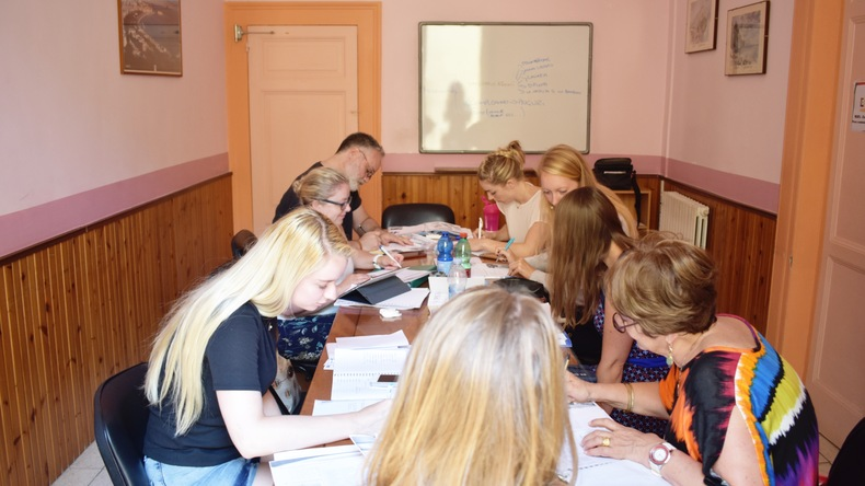 Étudiants en classe