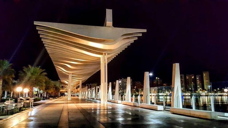 Malaga la nuit