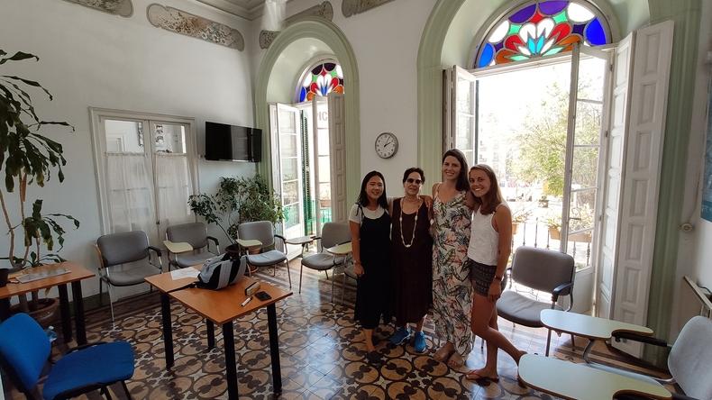 Intérieur de l'école Instituto Picasso