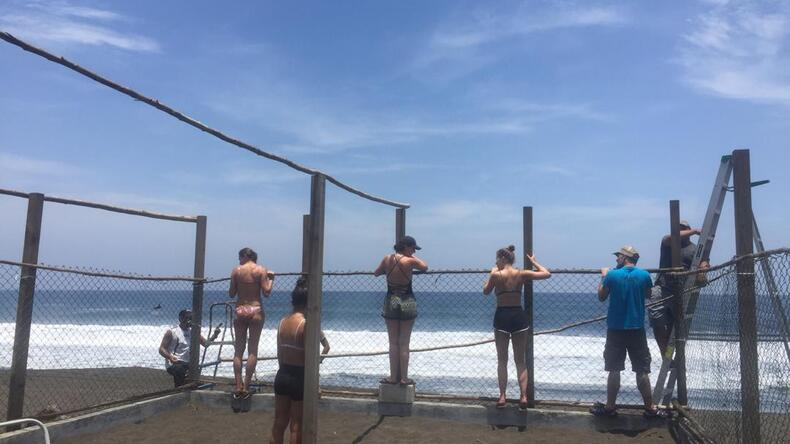 Construction d'une écloserie de tortues de mer à Monterrico
