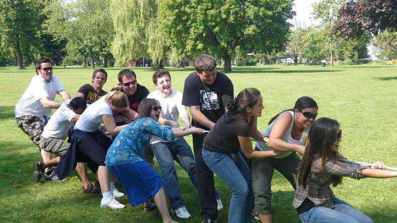 Événement social en plein air