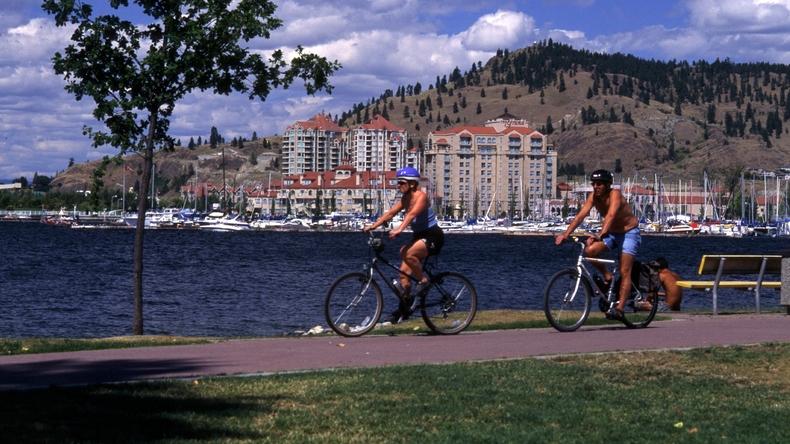 Cykler på promenaden
