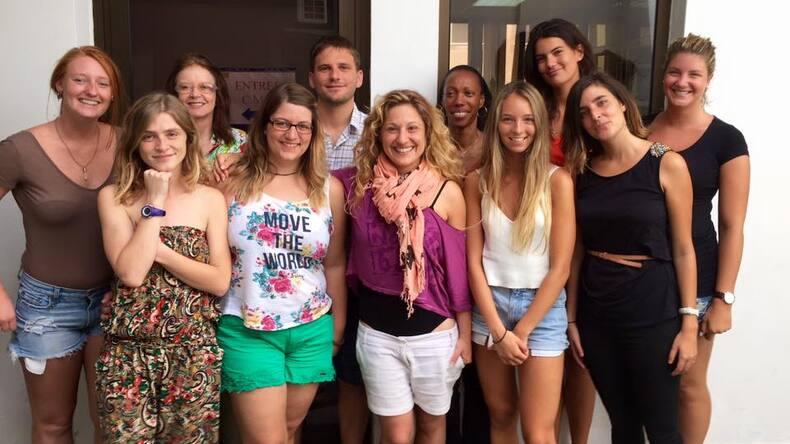 フォールドフランスを探索する学生