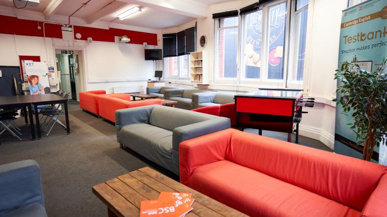 British Study Center -opiskelijoiden olohuone