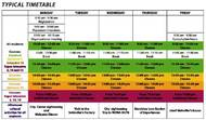 Plan der Freizeitaktivitäten - Erwachsene und Junioren (PDF)