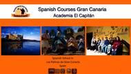 Брошюра школы Academia El Capitán в Лас-Пальмас, Испания