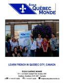 École Québec Monde Broschyr (PDF)