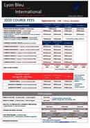 2020 Course Fees
