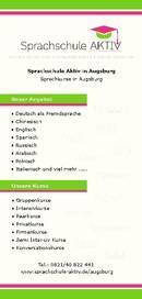 Sprachschule Aktiv Brochure (PDF)