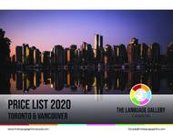 Prijslijst 2020