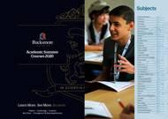 Bucksmore English Language Summer School Magdalene College Broschyr (PDF)