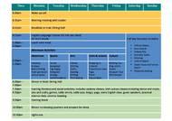 Aktivitetsschema - juniorer (PDF)