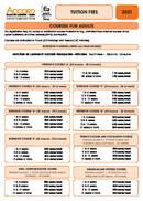 Accord kurser og indkvarteringspriser 2021