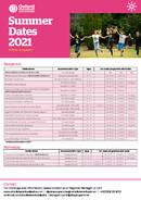 Oxford International Education 2021 Junior startdatoer
