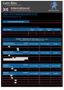 2021 Accommodation fees