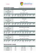 Lista de precios y fechas para cursos en línea 2021 de Liden & Denz Language Center