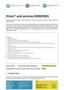 Priser og tjenester 2020/2021