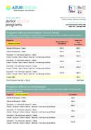 Azurlingua, ecole de langes Cennik dla Juniorów 2021