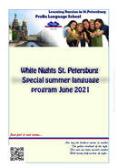 2021 White Nights Course ProBa Educational Centre St. Petersburg, Russia
