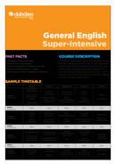 General English Super Intensive Course, Clubclass Malta
