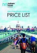 Lista de preços 2021