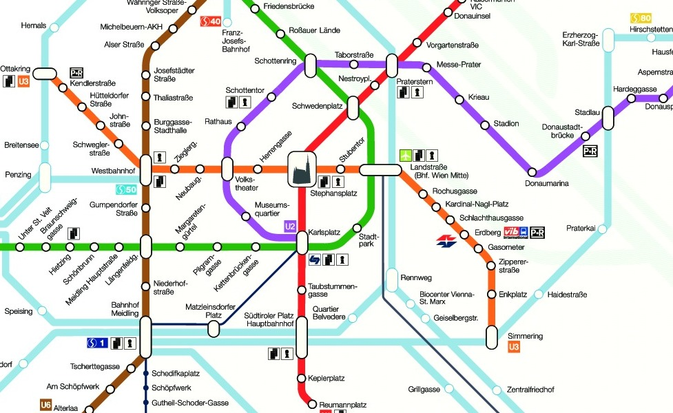 public transport map thumbnail of Vienna