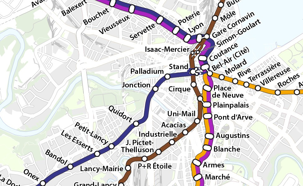 public transport map thumbnail of Geneva