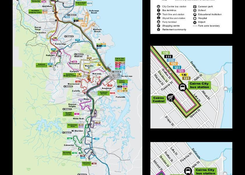 Мініатюра мапи громадського транспорту Кернс