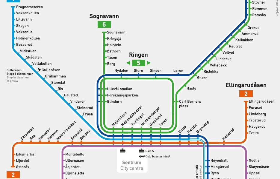 public transport map thumbnail of Oslo