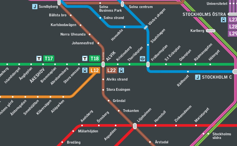 public transport map thumbnail of Stockholm