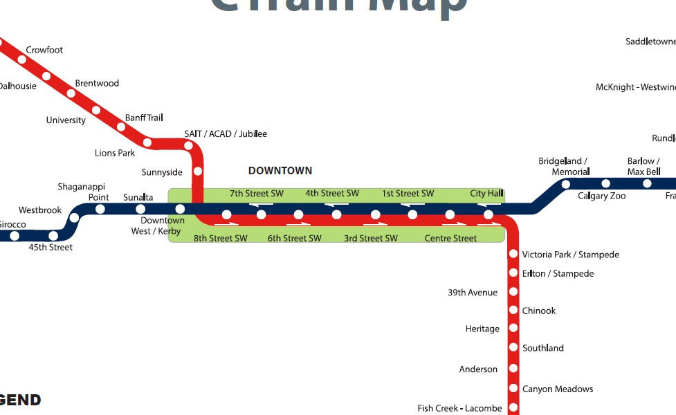 public transport map thumbnail of Calgary