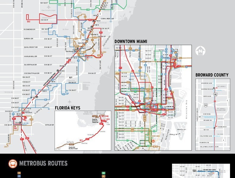 public transport map thumbnail of Miami