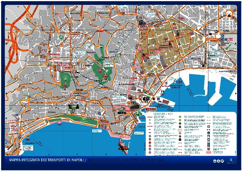 public transport map thumbnail of Naples