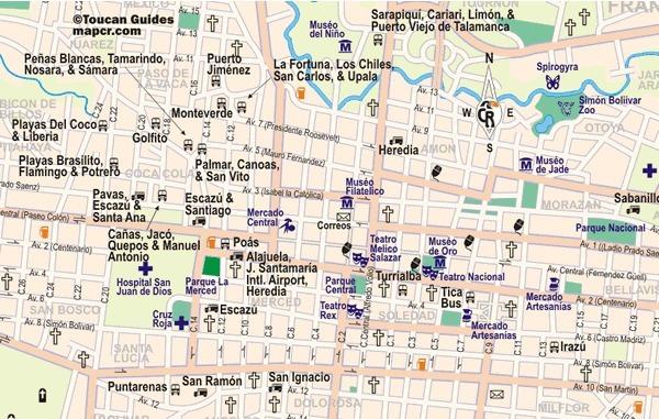 Vorschau Öffentlicher Verkehrsmittel Plan von San Jose