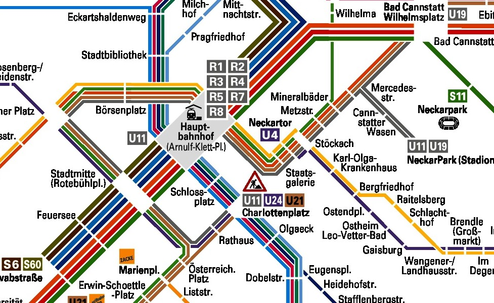 public transport map thumbnail of Stuttgart