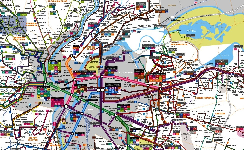 public transport map thumbnail of Lyon