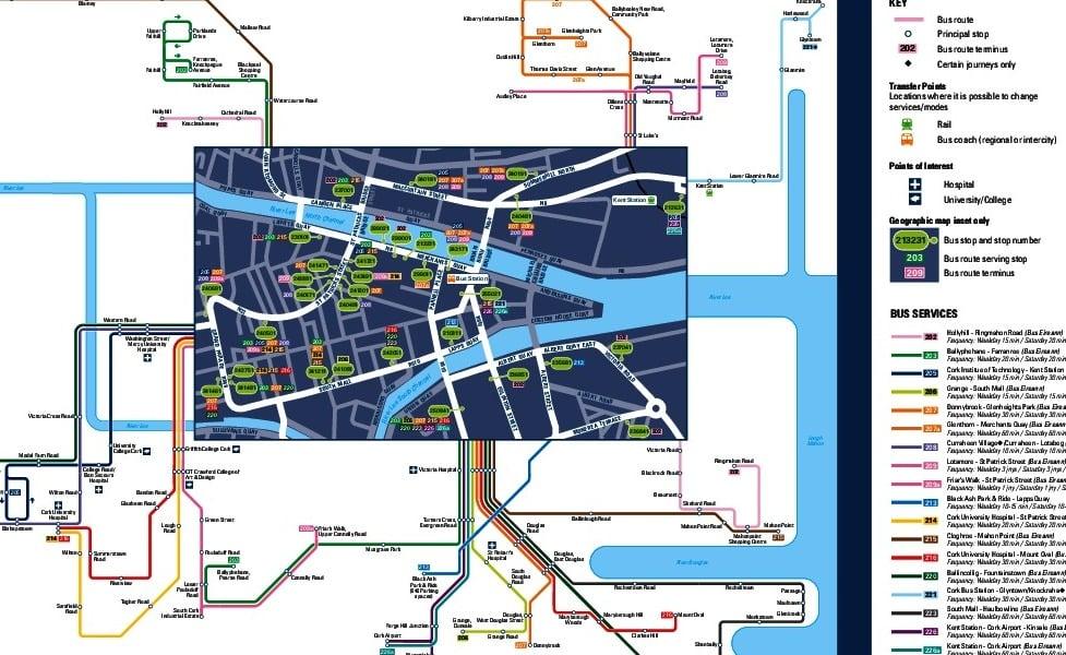 public transport map thumbnail of Cork