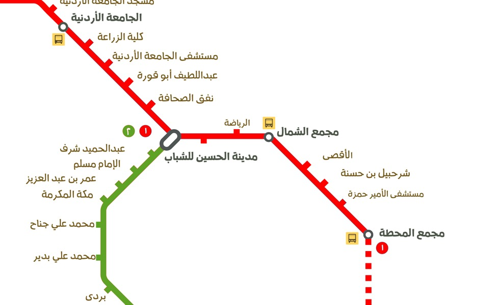 public transport map thumbnail of Amman