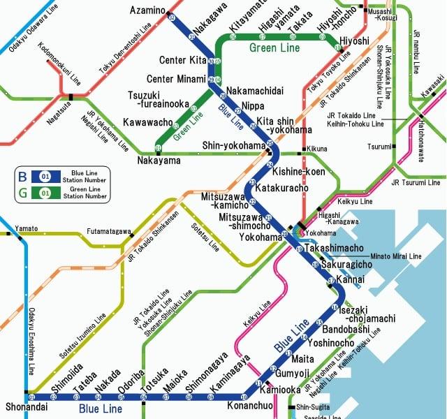 Yokohama toplu taşıma haritası küçük resmi