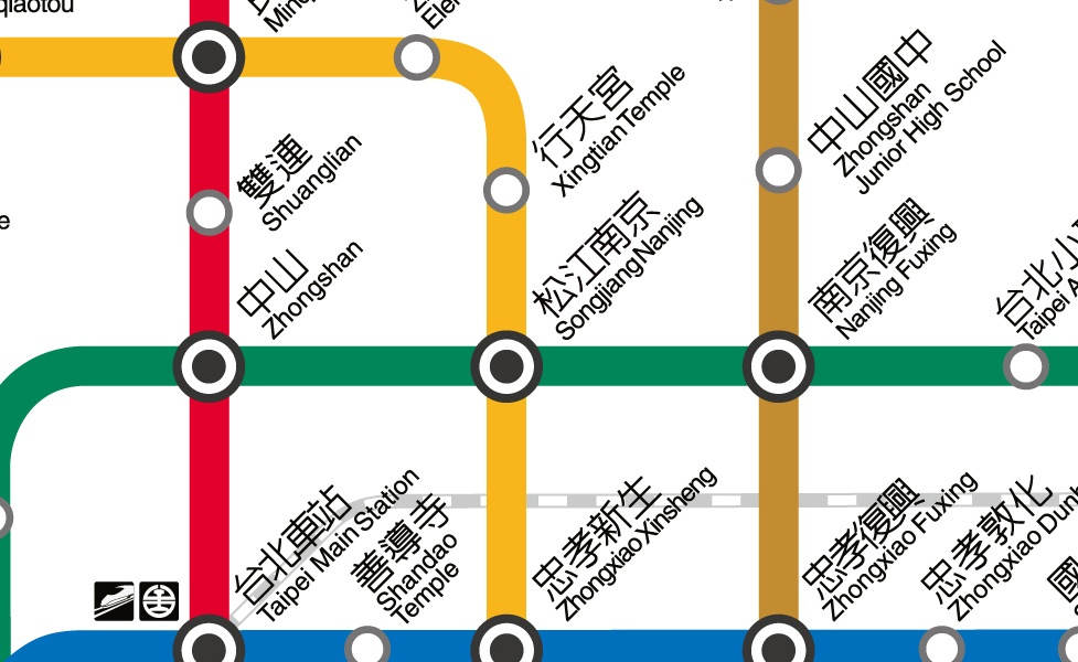 public transport map thumbnail of Taipei