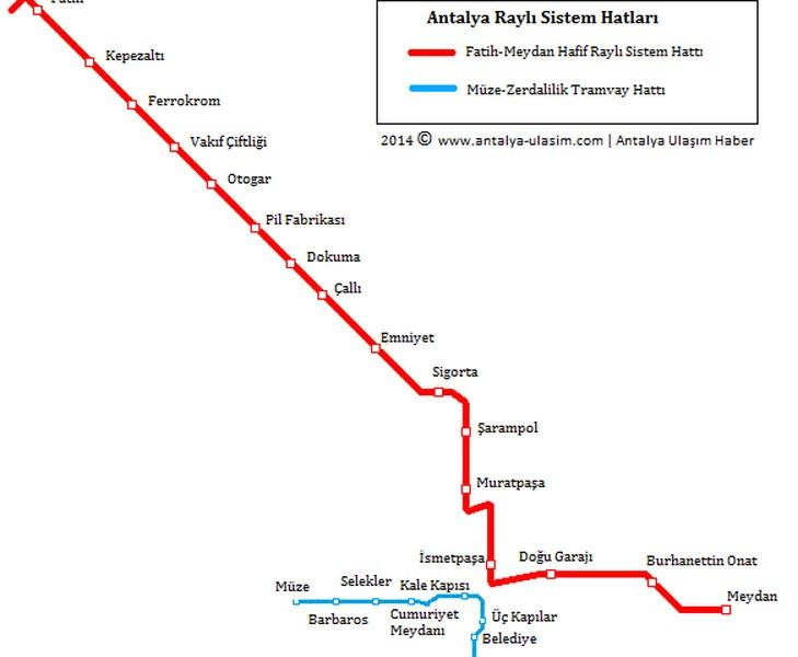 public transport map thumbnail of Antalya