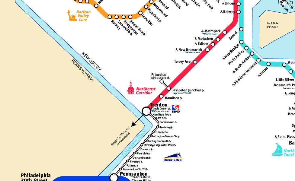 public transport map thumbnail of Jersey City