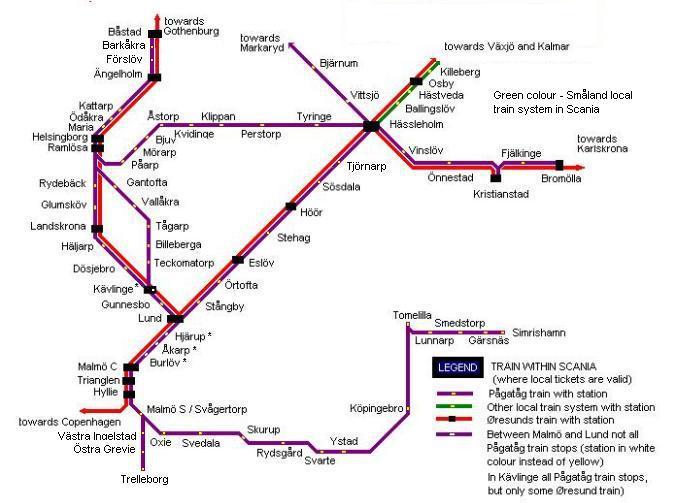 Mapa transportu publicznego Scania