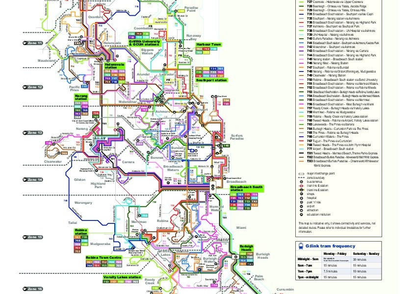public transport map thumbnail of Gold Coast