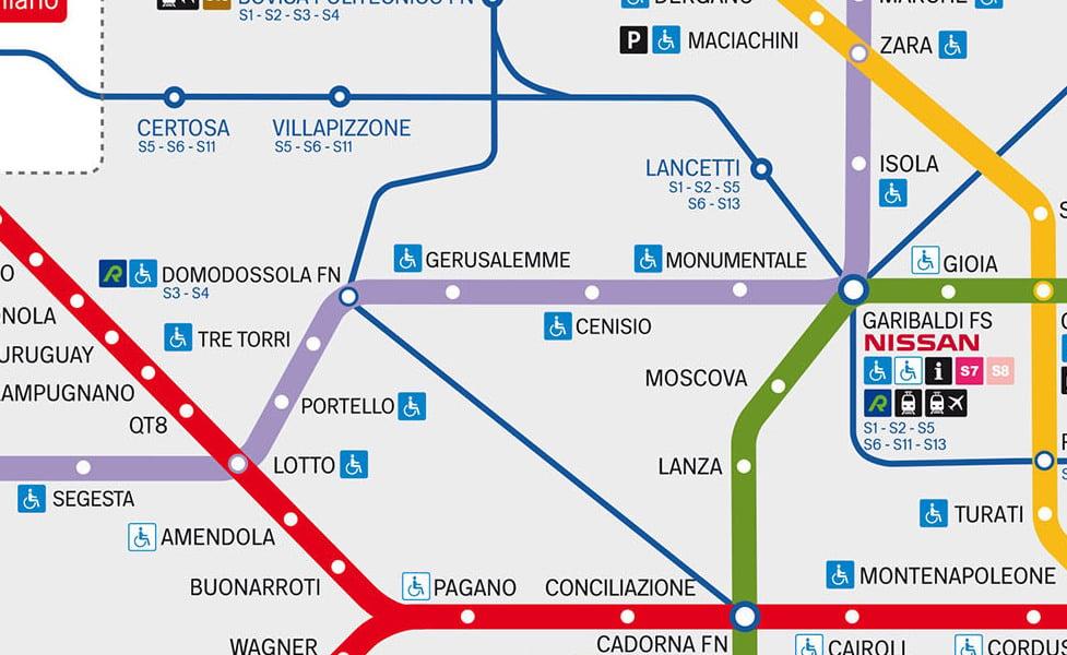 米兰公共交通地图缩略图