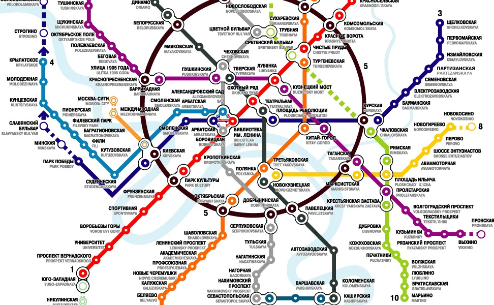 public transport map thumbnail of Moscow