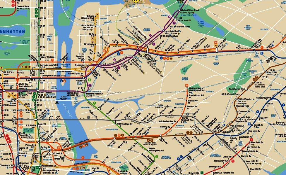 public transport map thumbnail of New York