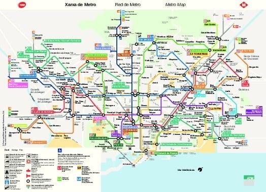 public transport map thumbnail of Barcelona