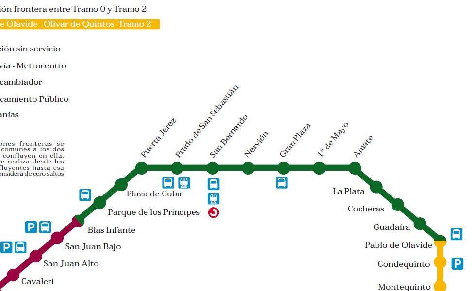 Thumbnail peta pengangkutan awam Sevilla