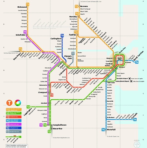 public transport map thumbnail of Sydney